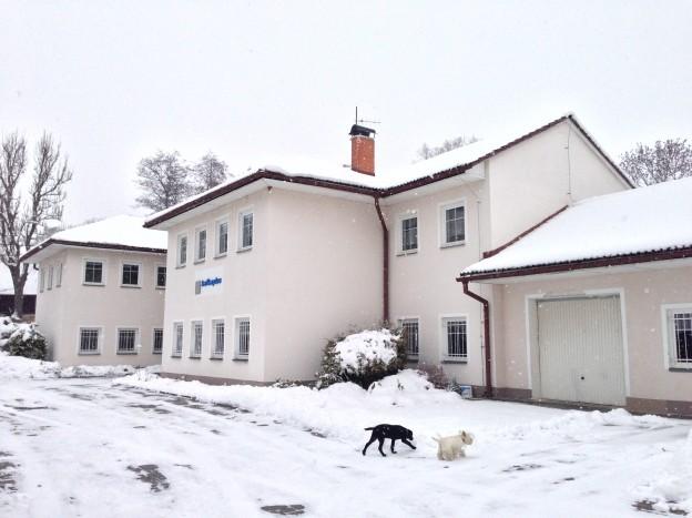 Dílna v Bynovci – zimní pohled